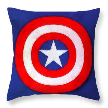 The Captain's Shield Throw Pillow