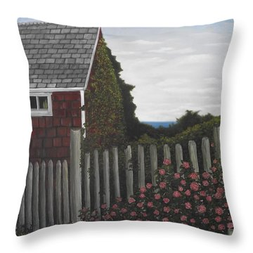 The Captain's Widow's House Throw Pillow