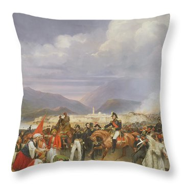 The Capture Of Morea Castle, 30th October 1828, 1836 Oil On Canvas Throw Pillow