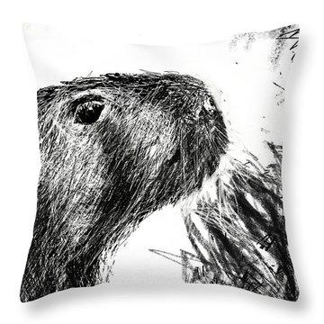 The Capybara  Throw Pillow