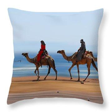 The Caravan Throw Pillow by Hannes Cmarits