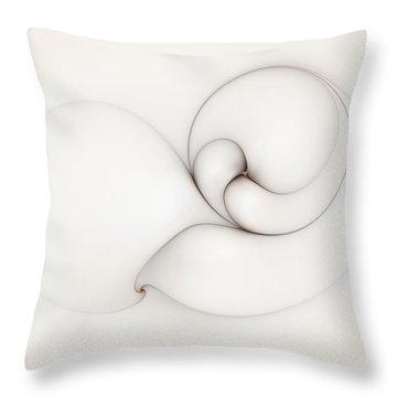 Throw Pillow featuring the digital art The Caress by Casey Kotas