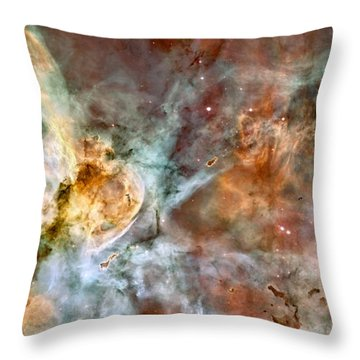 The Carina Nebula Throw Pillow by Nasa