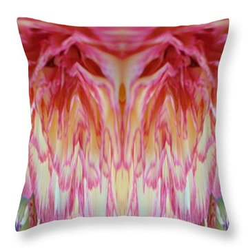 The Carnation Unleashed 3 Throw Pillow by Tim Allen