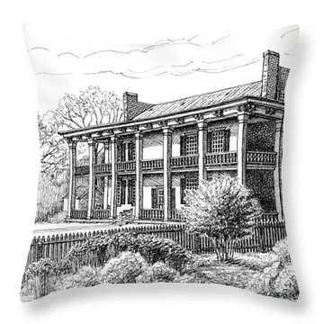 The Carnton Plantation In Franklin Tennessee Throw Pillow