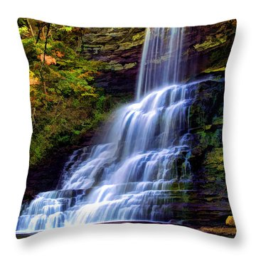 The Cascades Throw Pillow