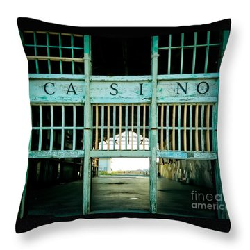 The Casino Throw Pillow