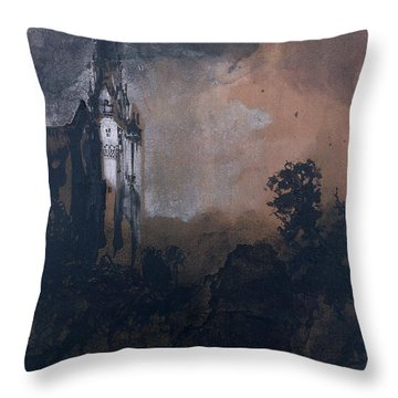 The Castle In The Moonlight  Throw Pillow