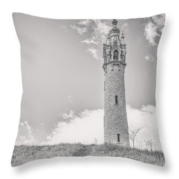 The Castle Tower Throw Pillow by Scott Norris