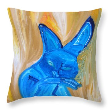 The Cat Camelion  Throw Pillow