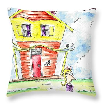 The Cat Lady Throw Pillow