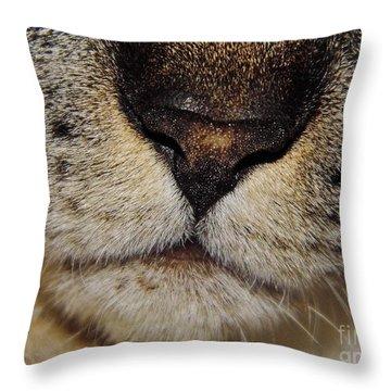 The - Cat - Nose Throw Pillow
