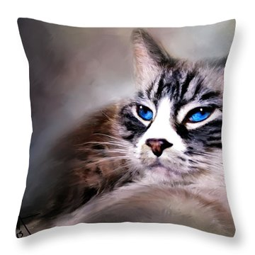 The Cat Throw Pillow by Robert Smith