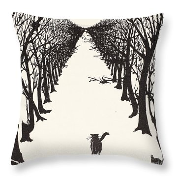 The Cat That Walked By Himself Throw Pillow