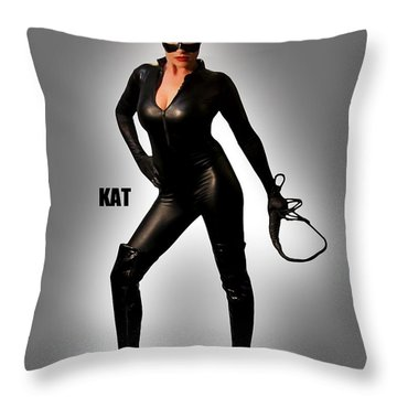 Kat Vgirl Pinup Throw Pillow