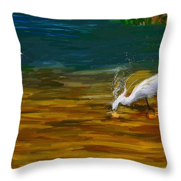 The Catch Throw Pillow by Angela A Stanton