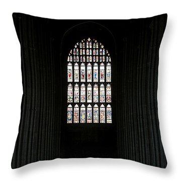 The Cathedral Sits Empty Throw Pillow by Lisa Knechtel