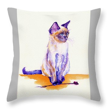 The Catmint Mouse Hunter Throw Pillow