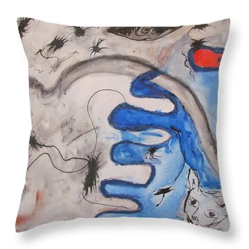 The Cat's Eye Throw Pillow
