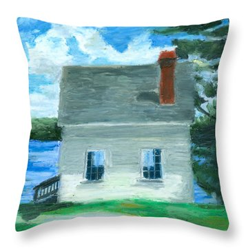 The Caulker's Shed Throw Pillow