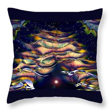 The Cave Dweller Throw Pillow