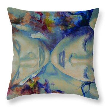 The Celestial Consonance Throw Pillow by Dorina  Costras