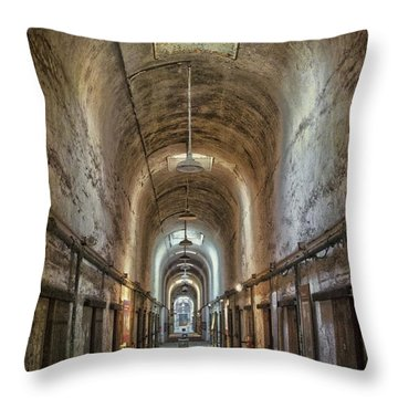 The Cell Block Throw Pillow