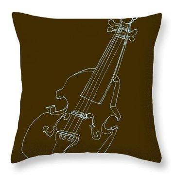 The Cello Throw Pillow by Michelle Calkins