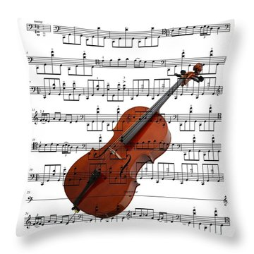 The Cello Throw Pillow