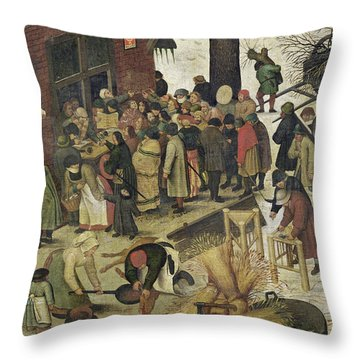 The Census At Bethlehem Throw Pillow