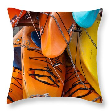 Throw Pillow featuring the photograph The Chain Gang by Jani Freimann