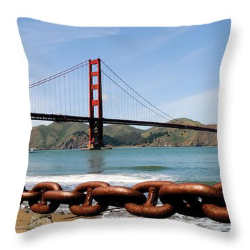 The Chain On The Gate Throw Pillow