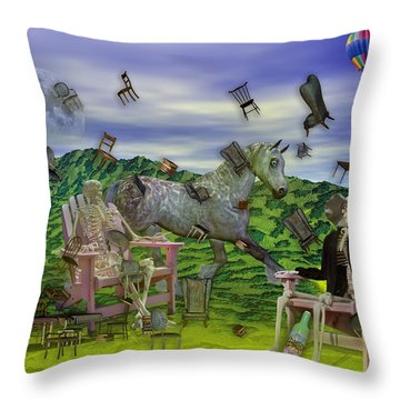 The Chairs Of Oz Throw Pillow