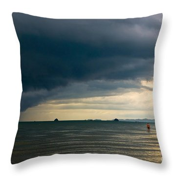 The Challenger Throw Pillow by Syed Aqueel