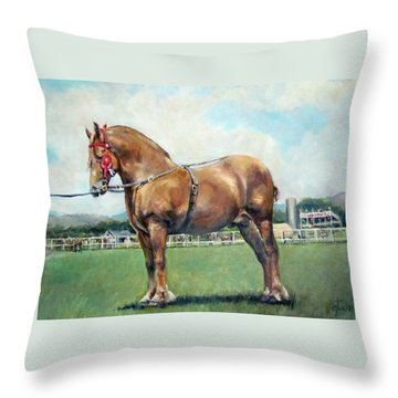 Throw Pillow featuring the painting The Champ by Donna Tucker