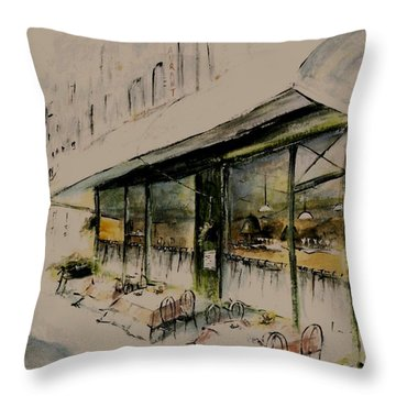 The Champs Elysees Throw Pillow