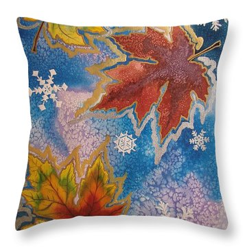 Throw Pillow featuring the painting The Change by Margaret Bobb