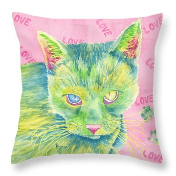 The Charmer Throw Pillow by Rhonda Leonard