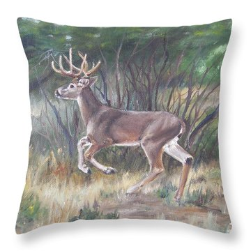 The Chase Is On Throw Pillow by Lori Brackett
