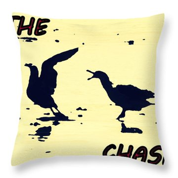 The Chase Throw Pillow by Pamela Hyde Wilson