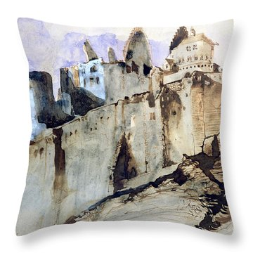 The Chateau Of Vianden Throw Pillow