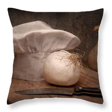 The Chef Throw Pillow by Tom Mc Nemar