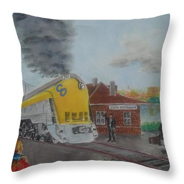 The Chesapeake And Ohio George Washington At South Portsmouth Station Throw Pillow