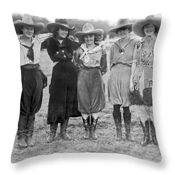 The Cheyenne Rodeo Roundup Cowgirls Throw Pillow