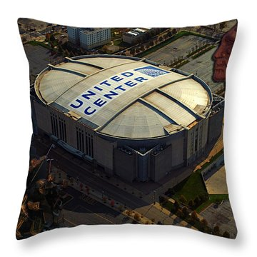 The Chicago Blackhawks Throw Pillow by Thomas Woolworth