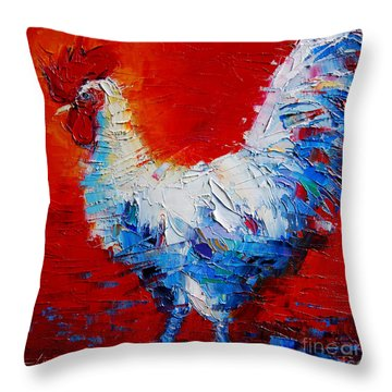 The Chicken Of Bresse Throw Pillow