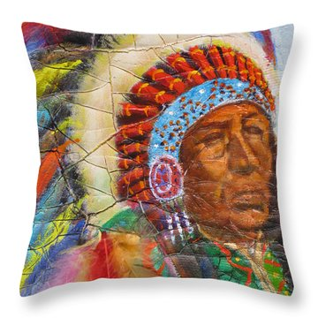 The Chief Throw Pillow by Mohamed Hirji