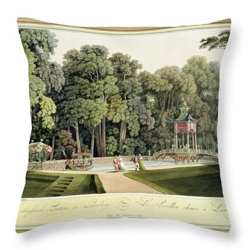 The Chinese Pavilion In The Laxenburg Throw Pillow by Laurenz Janscha