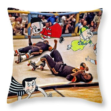The Chipmunks Skating Roller Derby Throw Pillow