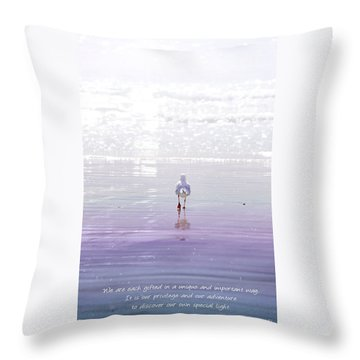 Throw Pillow featuring the photograph The Chosen One by Holly Kempe